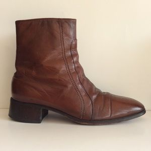 Vintage 70s Freeman Brown leather Boots Men's 8.5